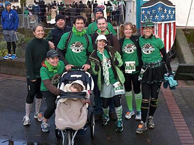 Team Running Wild at the 2013 Shamrock Run